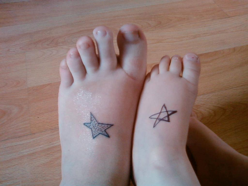 Cute star foot tattoo 55  Best