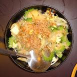 Goya Champuru stir fry of bitter melon, tofu, egg and sliced spam (Okinawa style) in Tokyo, Tokyo, Japan