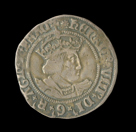 The actions of an issuing authority can undermine public confidence in their own currency. During a period known as the 'Great Debasement' King Henry VIII significantly reduced the amount of silver in the coinage to pay for costly wars with France and his lavish personal spending. The effect of this debasement  is clearly evident when you compare this fine silver groat with the coin that follows, minted some twenty years later.