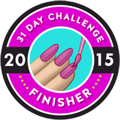 31 Day Challenge 2015 Finisher Badges