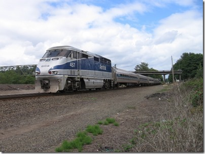 IMG_8704 Amtrak F59PHI #457 in Kelso, Washington on August 25, 2007