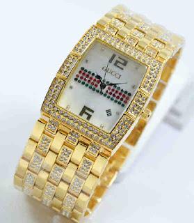 jam tangan Gucci tikar date full Gold
