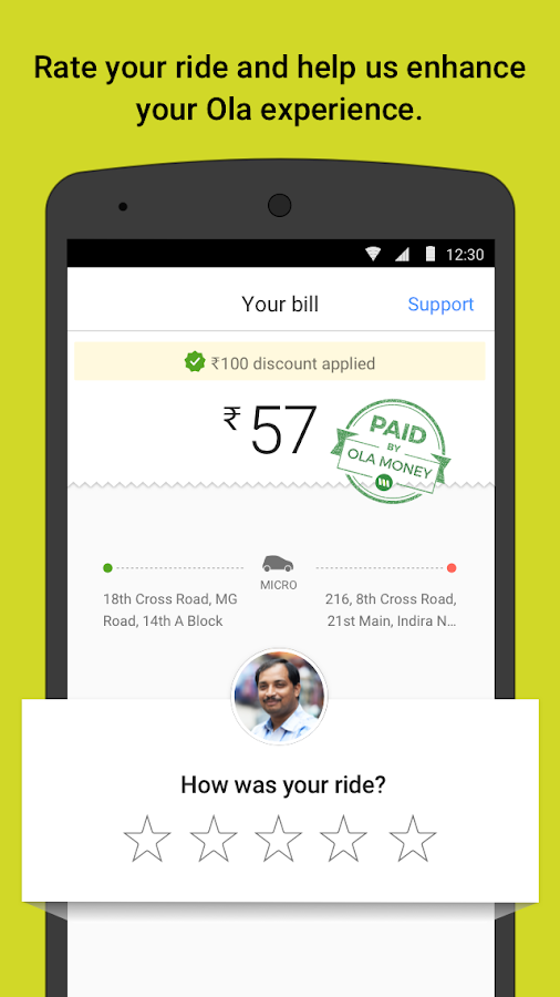 Ola cabs - Book taxi in India Screenshot 4
