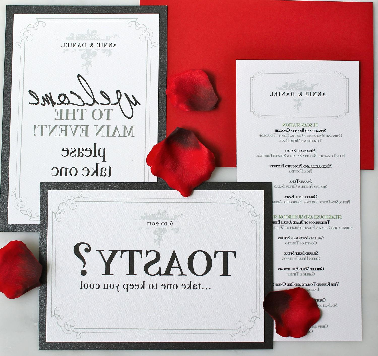 Wedding Reception Table Signs-