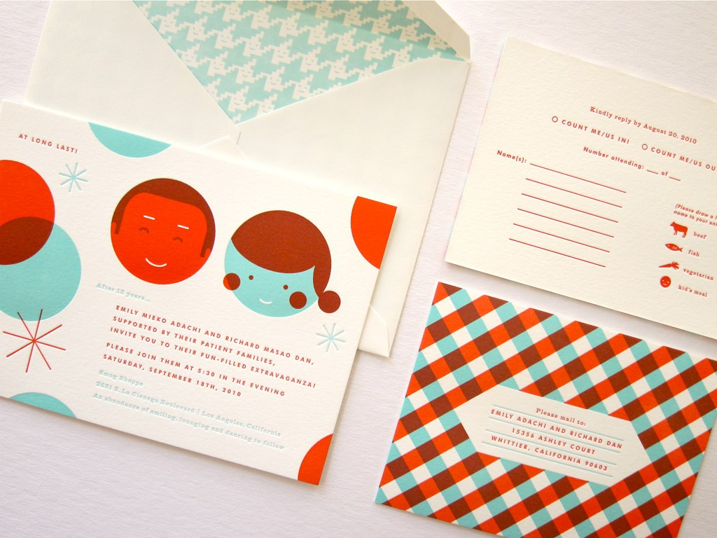 Cool wedding invitations.