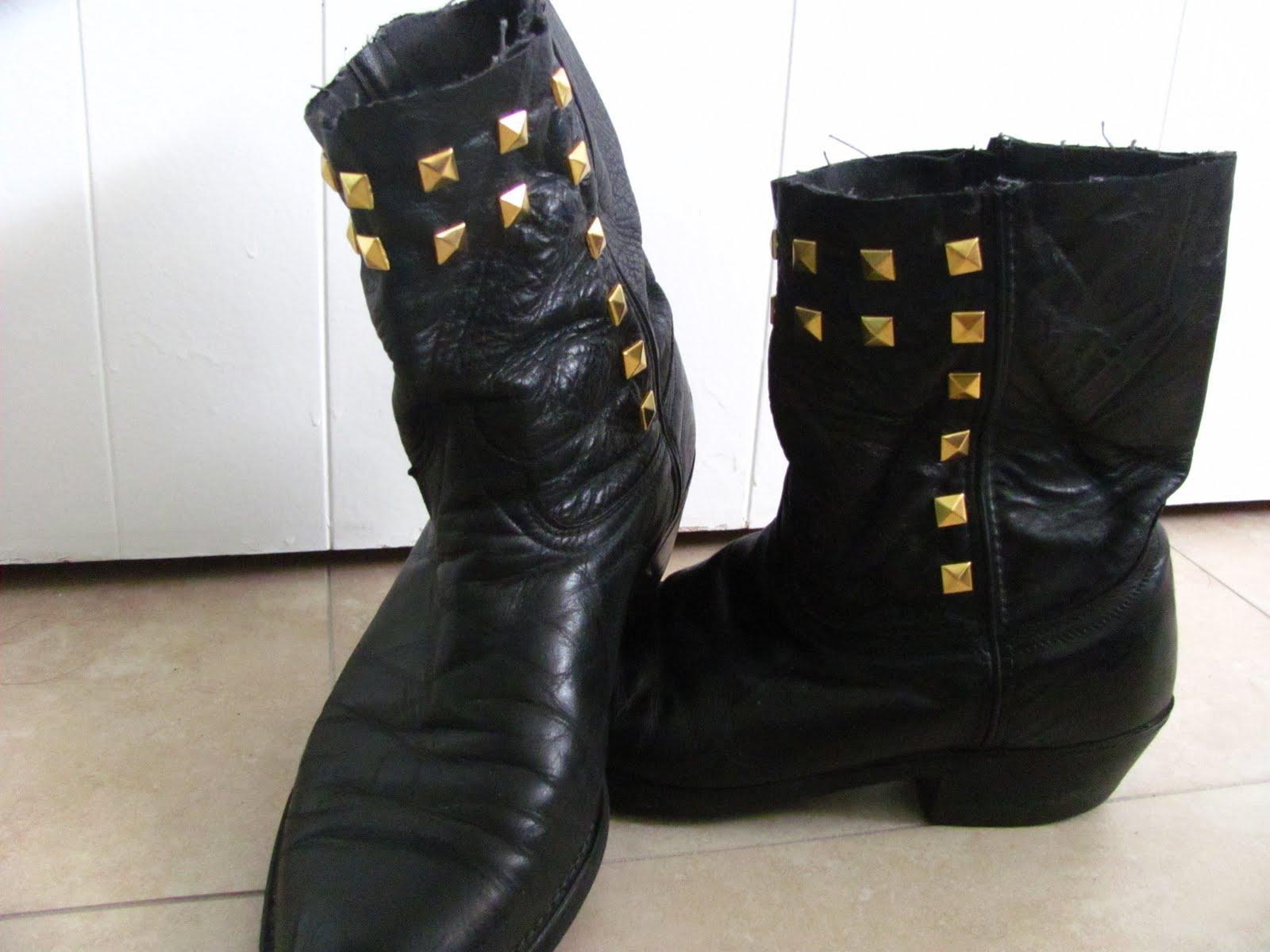 originally black cowboy boots