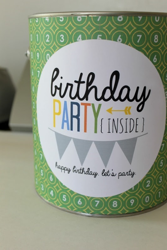 party in a can #printable