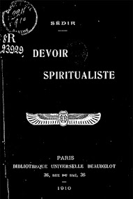 Cover of Paul Sedir's Book Le Devoir Spiritualiste (1910,in French)