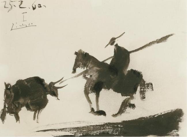 Maharani of Baroda's Picasso Drawing: SCÈNE DE CORRIDA