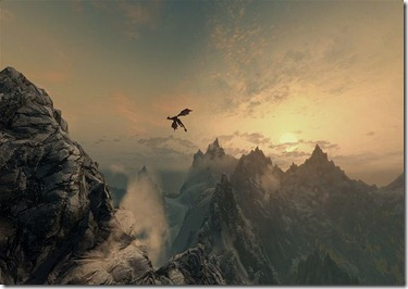 Dragon in Mountains