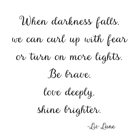 shine brighter -- liv lane