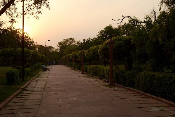 парк агра закат