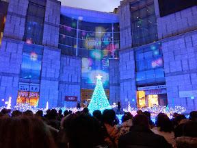 カレッタ汐留のクリスマスイルミネーション2013