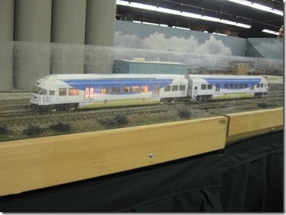 IMG_5938 TriMet Westside Express Service DMUs on the Beaverton Modular Railroad Club's HO-Scale Layout at the Great Train Expo in Portland, Oregon on February 14, 2009