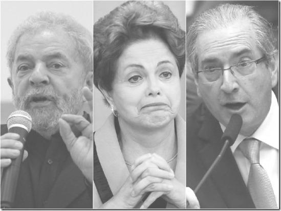 Lula, Dilma, Cunha