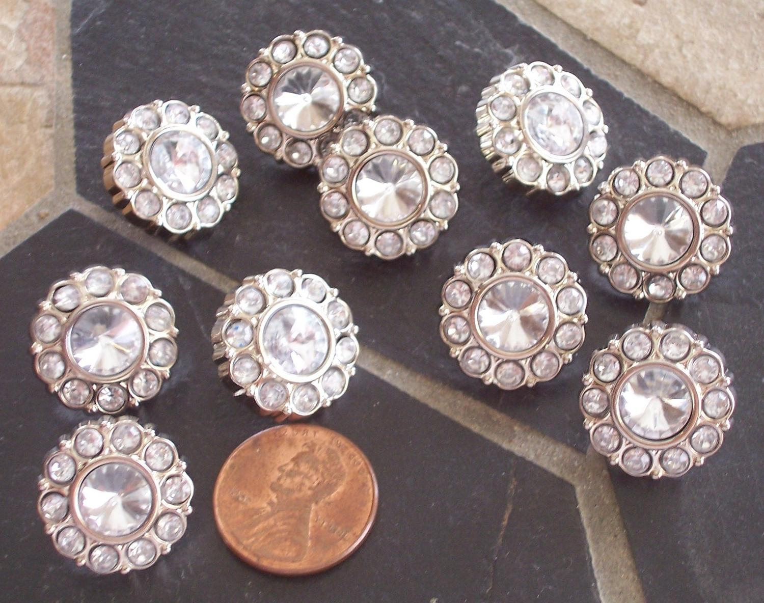 20 Clear Rhinestone Crystal