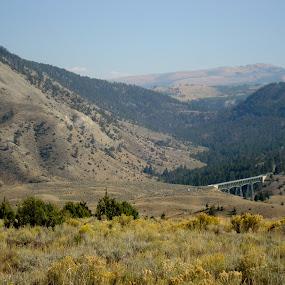 Bridge In Nature by Yury Tomashevich - Landscapes Mountains & Hills ( mountains, nature, road, bridge, bridges )