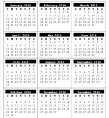 календарная сетка онлайн