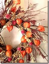 Autumn Lantern and Berry Wreath
