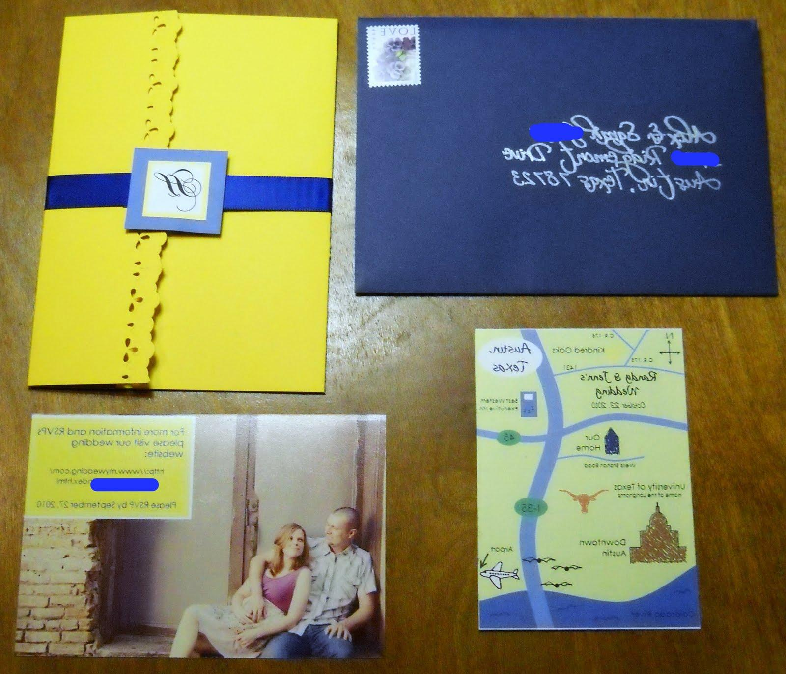 The map and RSVP card are