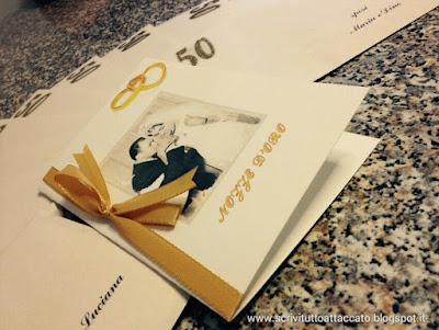 Scrivituttoattaccato 50 Anni Di Nozze Inviti Per Anniversario E