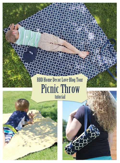 Picnic Throw tutorial using cute Riley Blake home dec fabrics