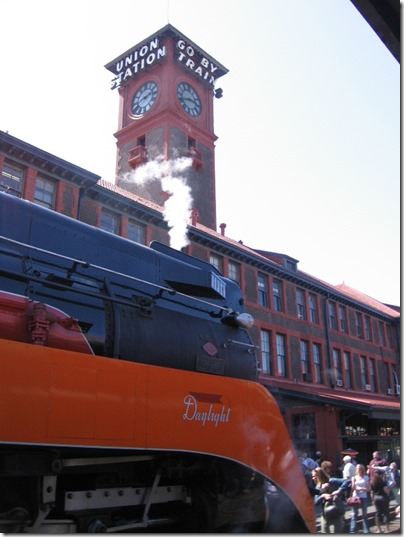 IMG_6074 Southern Pacific Daylight GS-4 4-8-4 #4449 at Union Station in Portland, Oregon on May 9, 2009