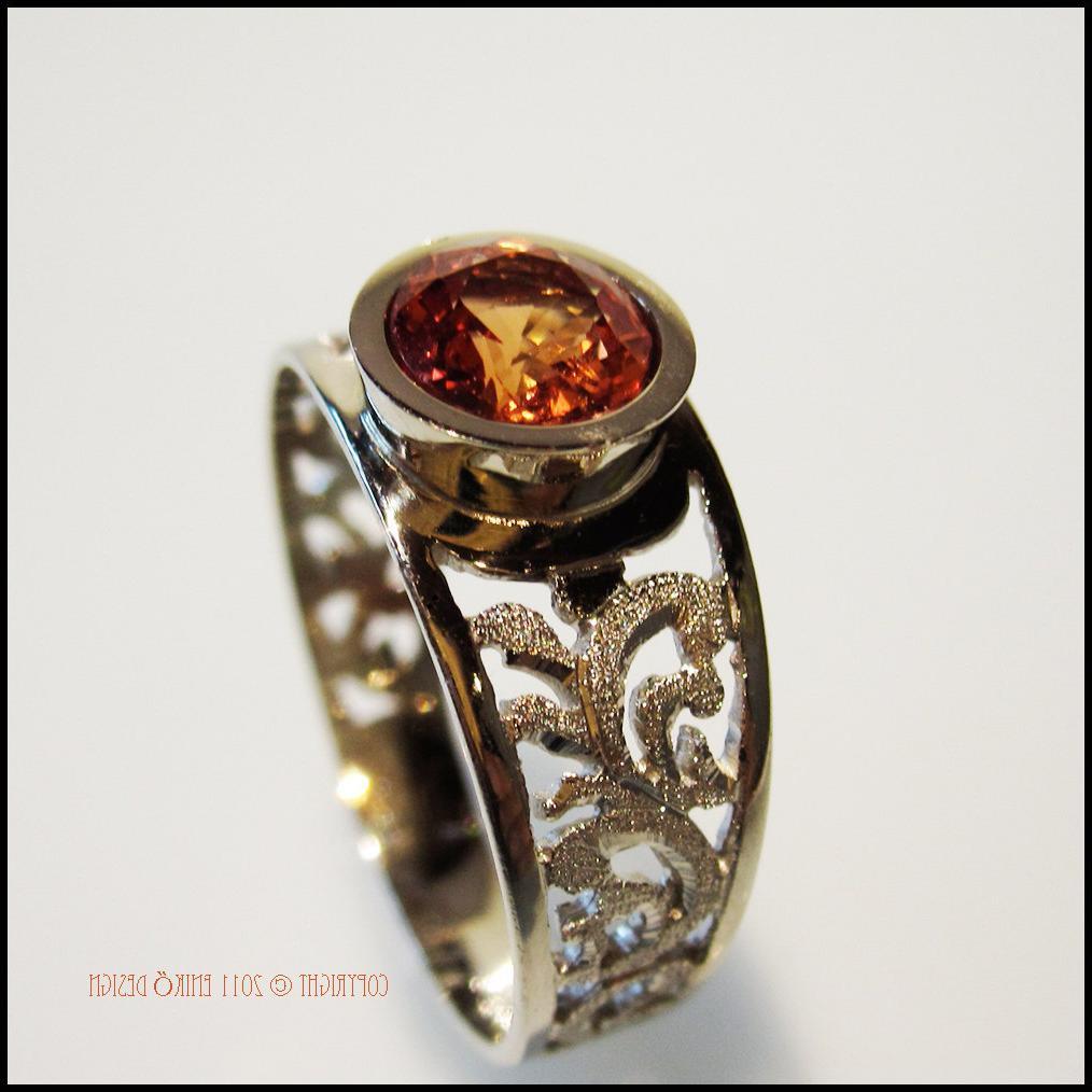 Orange Sapphire Engagement