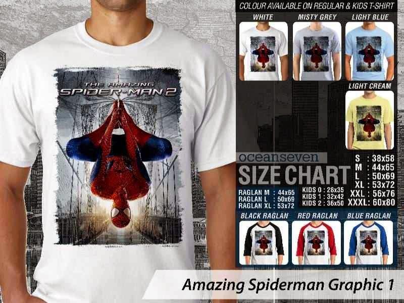 Kaos Film Superhero Amazing Spiderman Graphic 1 distro ocean seven