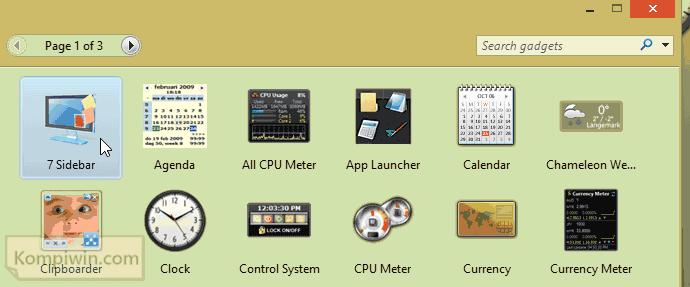 gadget windows 7 di windows 8.1