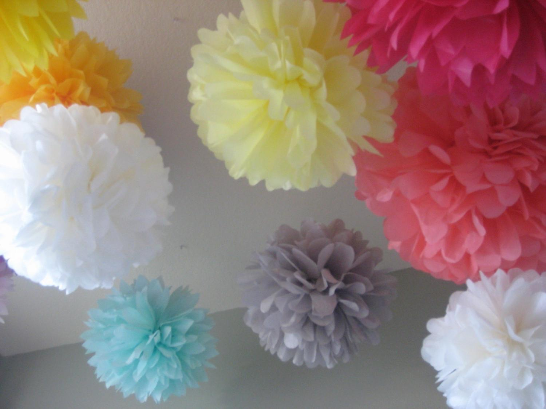 40 Tissue Paper Pom Poms