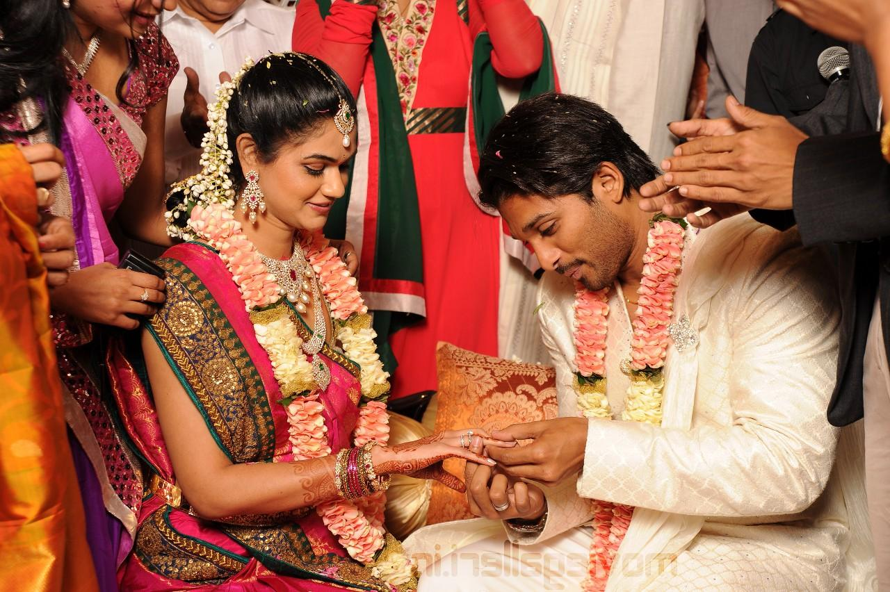 Allu Arjun Engagement stills