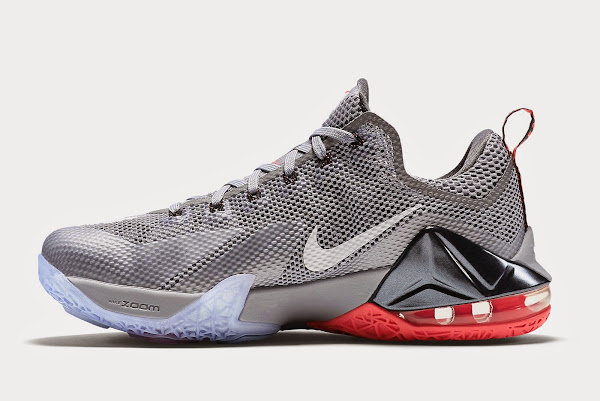 Upcoming Nike LeBron XII Low 8211 Wolf Grey amp Hot Lava