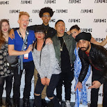 Much Music YouTubers group shot with JusReign, Timothy GeLaGettho, Cameron & Reformatt in Toronto, Ontario, Canada