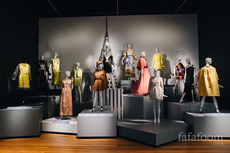 """Beginnings"" Showcase of Oscar de la Renta: The Retrospective exhibition at de Young Museum, San Francisco."