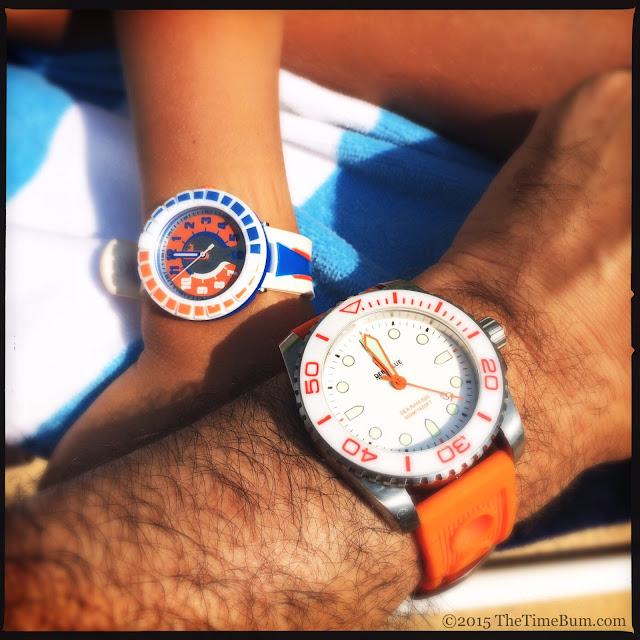 Swatch Flik Flak All Around Orange & Blue and Deep Blue Sea Ram