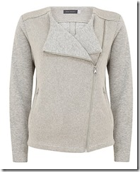 Mint Velvet grey biker cardigan