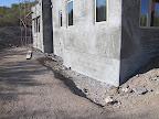 Stucco layer along block stemwall 11/15