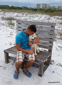 Nicolas and his doggy