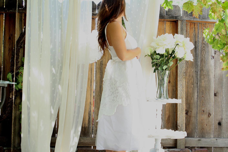 SALE Sweet Darlin Maxi Wedding Slip Dress Handmade Romantic and Sweet