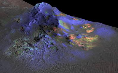 depósitos de vidro preservados na cratera Alga