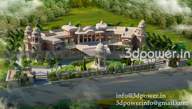 3D View Of  Traditional Architecture