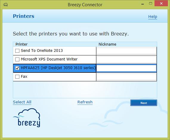 breezy wireless printing application