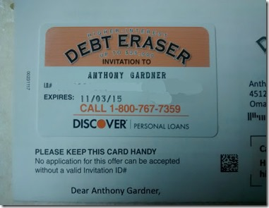 debteraser - Discover Card Personal Loan