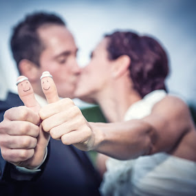 Love by Mike Kremer - Wedding Details ( love, kiss, ekimpix, wedding, rings, couple )