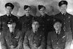The J. (Jake) Thompson crew of 432 SquadronBack row:F/O A. Borland RCAF, Bomb aimer;P/O R. Thomson RCAF, Mid-upper gunner;Sgt W. Worthington RCAF, Rear gunner;F/O S. Harrison RCAF, Wireless Op.Front row:F/Lt J. Thompson RCAF, Pilot;Sgt J. Sorrell RAF, Flight Engineer;F/O J. Serne RCAF, Navigator.This crew was shot down over Chemnitz on February 14/15, 1945 by a JU-88, while on return. W. (Bill) Worthington did not fly this operation as he was in base hospital at East Moor. He was replaced by F/Sgt R. Stringer in the rear turret on that night, and ended the war as a POW.Photo graciously supplied by Bill Worthington, Rear gunner.