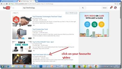 click-favourite-video