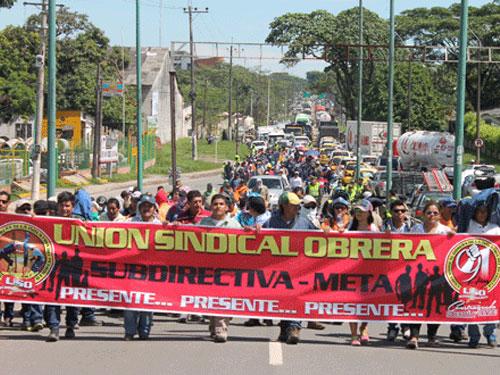 La USO se pronuncia sobre conflicto social con Pacific Rubiales en Puerto Gaitán