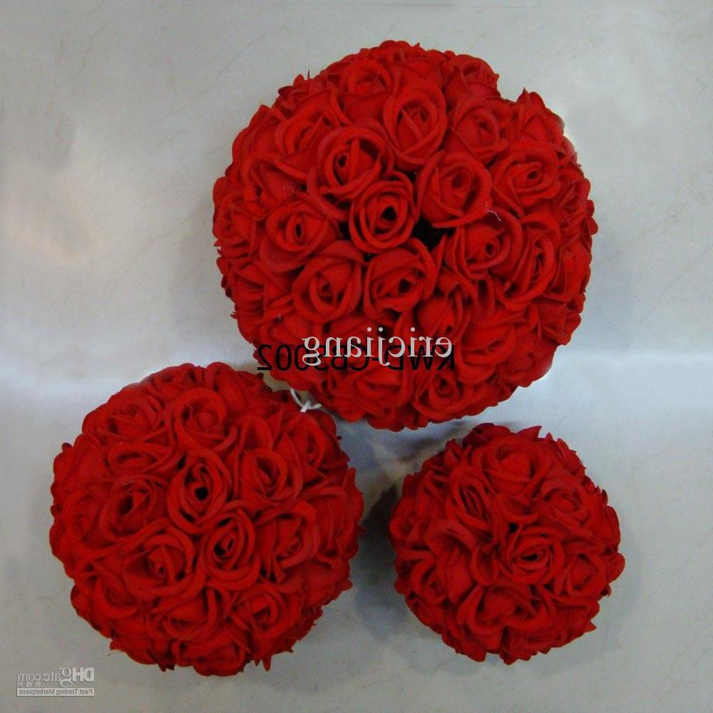 Here for sale we have Artificial silk flower ball. Dimensions