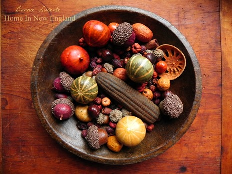 fall wooden bowl